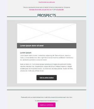 Prospects email layout - option 1