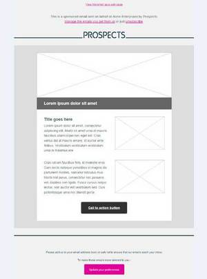 Email layout - Option 2